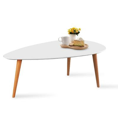 Scandinavian Style Coffee Table 116x65cm - White