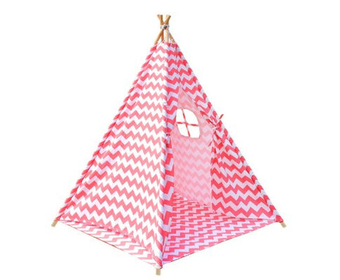 4 Poles Teepee Tent Coral FREE DELIVERY