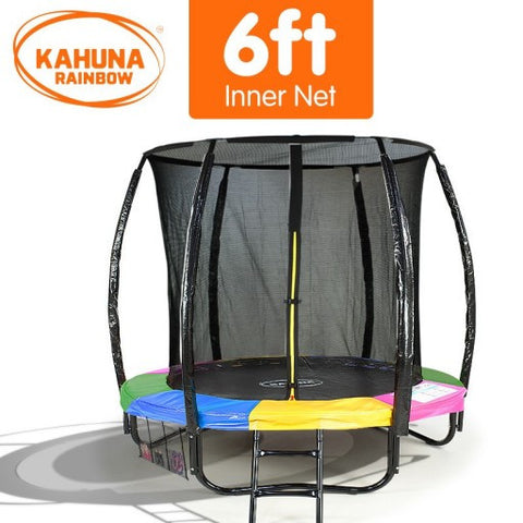 Kahuna 6 ft Trampoline with Rainbow Safety Pad