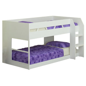White Low Line Single Bunk Bed