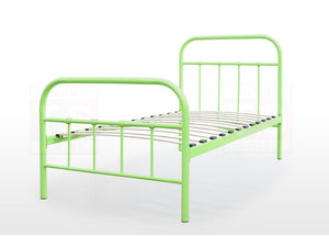 Single Size Metal Bed Frame (Elmo Collection, Green)