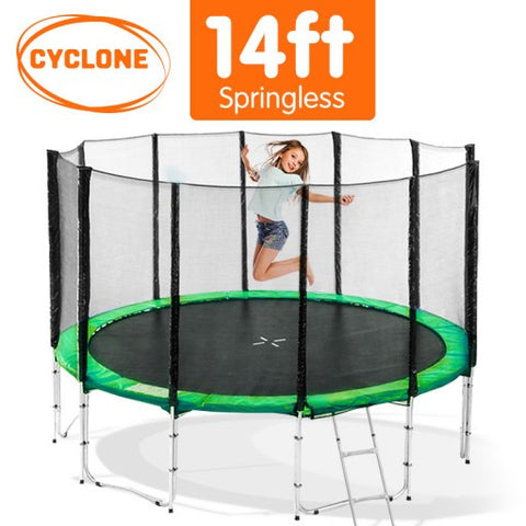 Cyclone 14 ft Springless trampoline with net