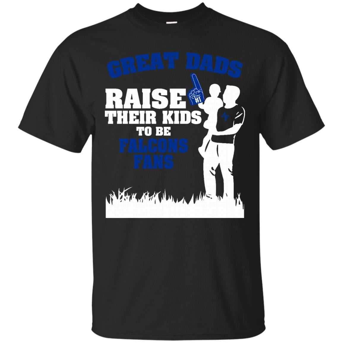 Air Force Falcons T shirts Great Dads Raise Their Kids To Be Falcons Fan Hoodies Sweatshirts