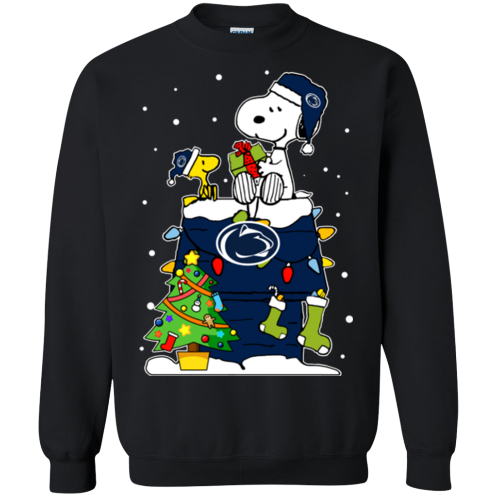 Penn State Nittany Lions Ugly Christmas Sweaters Snoopy Woodstock