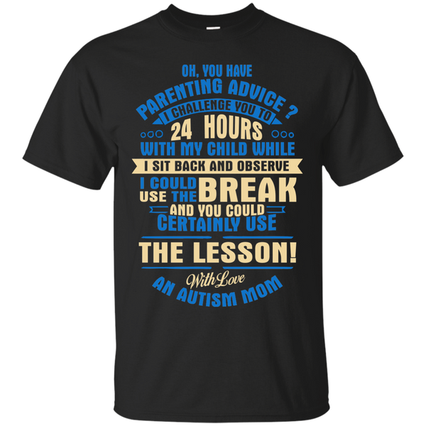 Autism Awareness T-shirts The Lesson With Love An Autism Mom Shirts Hoodies Sweatshirts