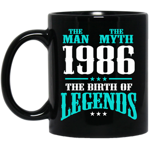 1986 Mug The Man The Myth The Birth of Legends Coffee Mug Tea Mug