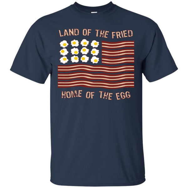 America Shirts LAND OF FRIED HOUSE OF EGG T-shirts Hoodies Sweatshirts