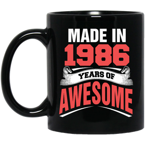 1986 Mug Made In 1986 Year of Awesome Coffee Mug Tea Mug