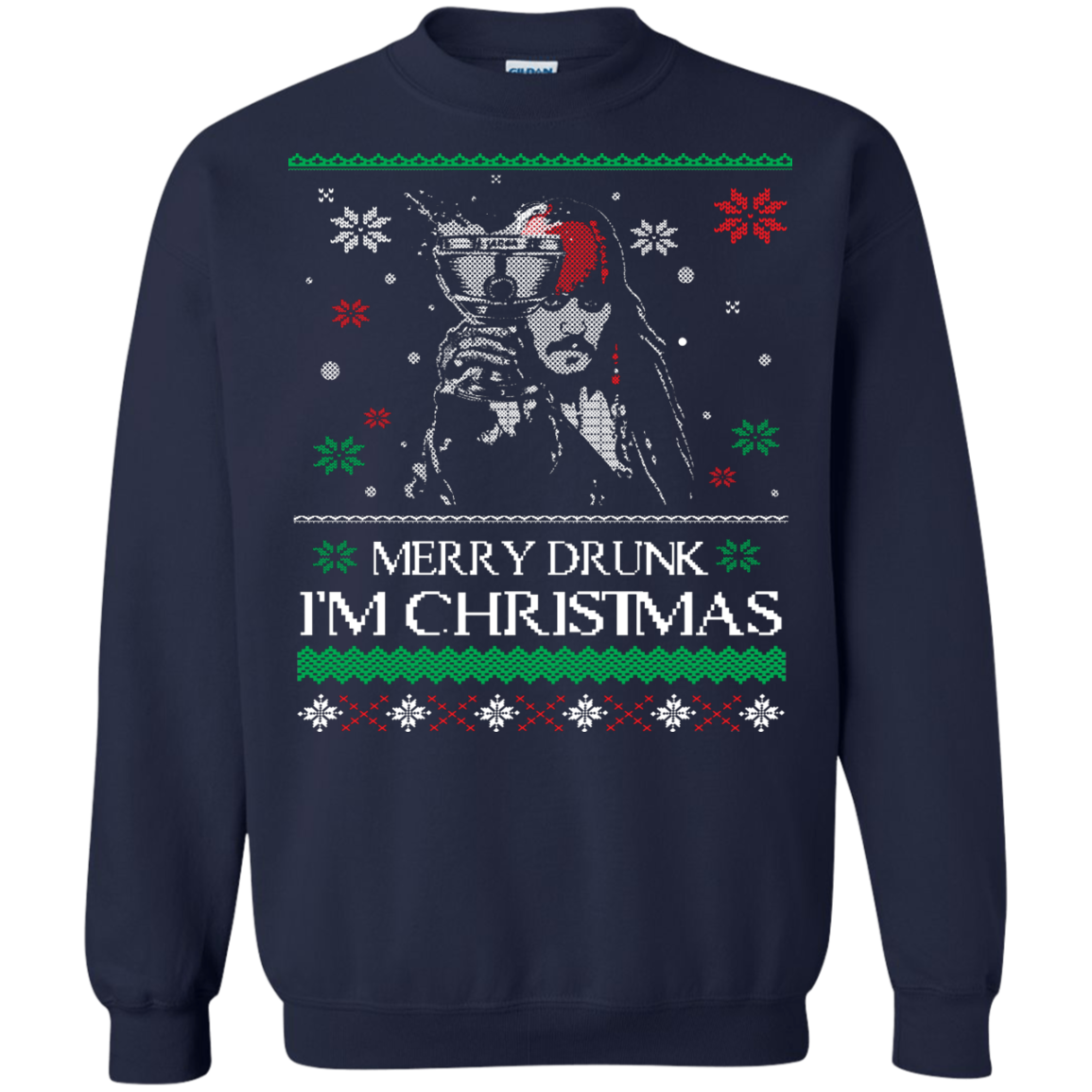 Christmas Ugly Sweater Pirates Of The Caribbean Merry Drunk I'm ...