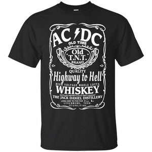 AC DC Highway To Hell T shirts Whiskey Hoodies Sweatshirts