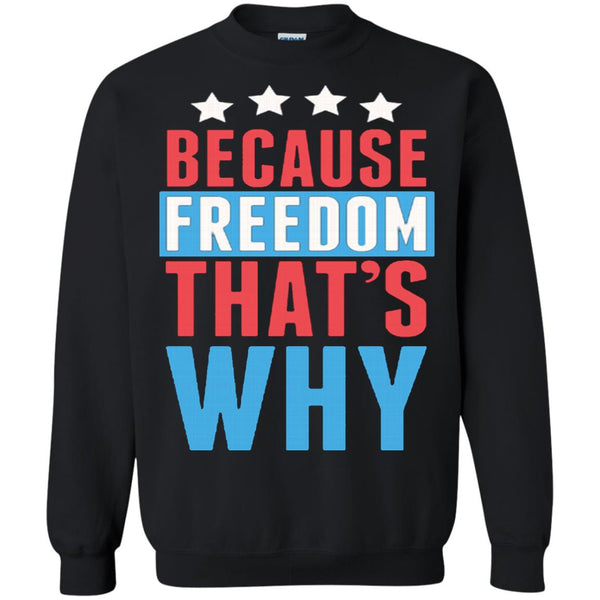 America Shirts BECAUSE FREEDOM THAT'S WHY T-shirts Hoodies Sweatshirts