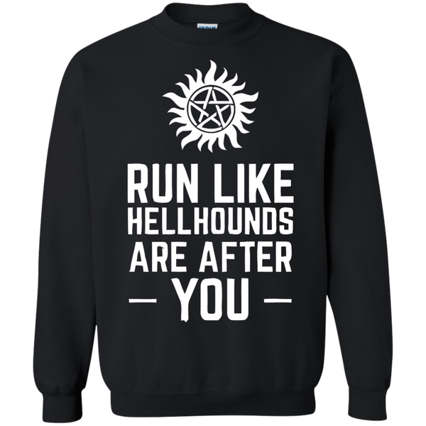 Supernatural T-shirts Run Like Hellhounds Are After You Shirts Hoodies Sweatshirts