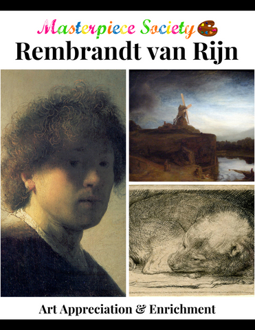Rembrandt Study - Masterpiece Society Art Appreciation