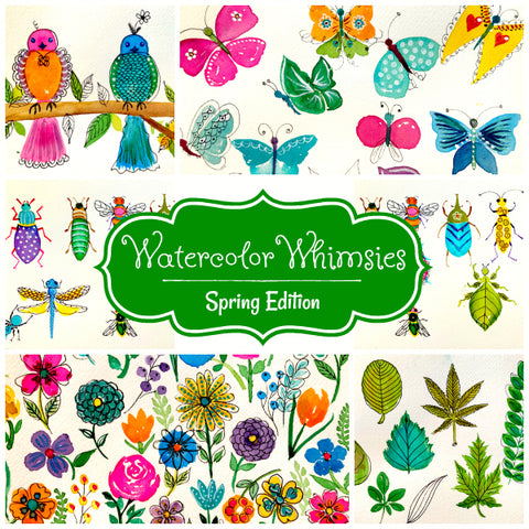 Watercolor Whimsies: Spring Edition