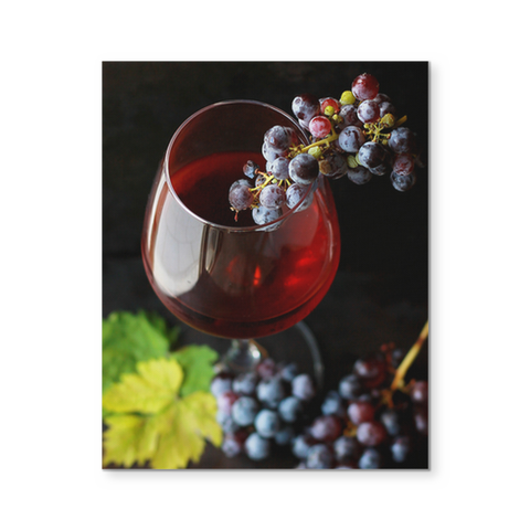 Wines Grapes Canvas Wall Art 8x10 Shop171
