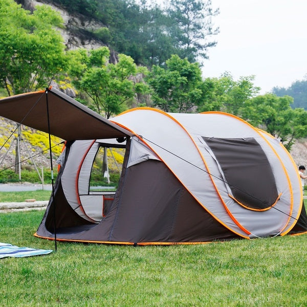 IPRee® PopUp Tent for 5-8 Person 3 IN 1 Waterproof UV Resistance Large Family Camping Tent Sun Shelters Outdoor 3 Seconds Automatic Setup