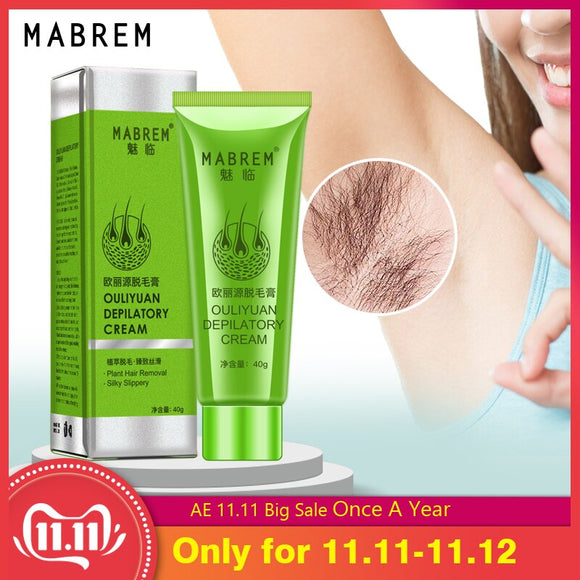 MABREM Men and Women Body Hair Removal Cream Hand Leg Hair Loss Depilatory Cream Clear pore dirt Removal Armpit Hair Care 40g