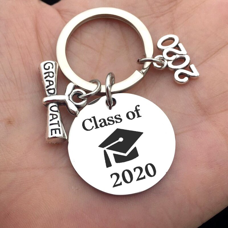 2020 Graduation Student Gift Stainless Steel Key Ring Gift for Keychain Car Key Chain My Story Is Just Begining Engraved Keyring
