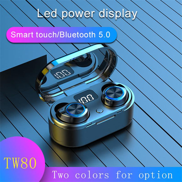 IMIDO Fashion Wireless Earphone Bluetooth 5.0 Earphone Bass Stereo Music Earbuds TWS Mini With Microphone LED Display Charging