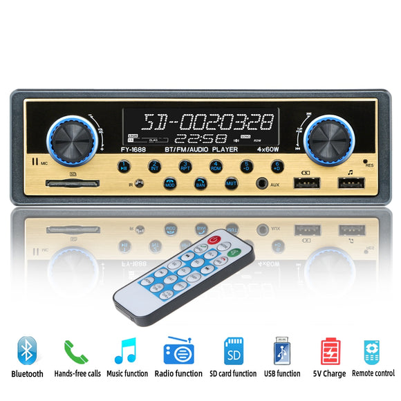 Autoradio Car Radio Coche Bluetooth FM Stereo Audio MP3 Aux Autostereo Radios Para Auto Electronics 1 din Car Multimedia Player
