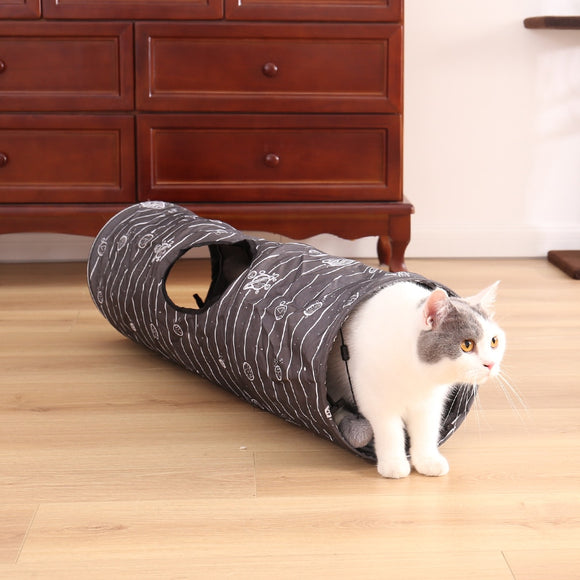 Pet Cat Tunnel Toy Cat Play Tube With Ball Collapsible Kitten Dog Toy Puppy Rabbit Play Cat Tunnel Tube Cat Toy for Small animal
