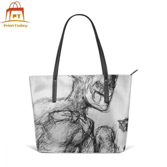 Ink Bendy Handbag Bendy Inspired Top-handle Bags Trend Oversized Leather Tote Bag Pattern High quality Wedding Women Handbags