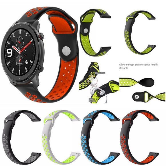 22MM Silicone Sports Replacement Watch Band Wrist Strap For Huami AMAZFIT GTR 47mm Smart Watch Bracelets Accessories #125