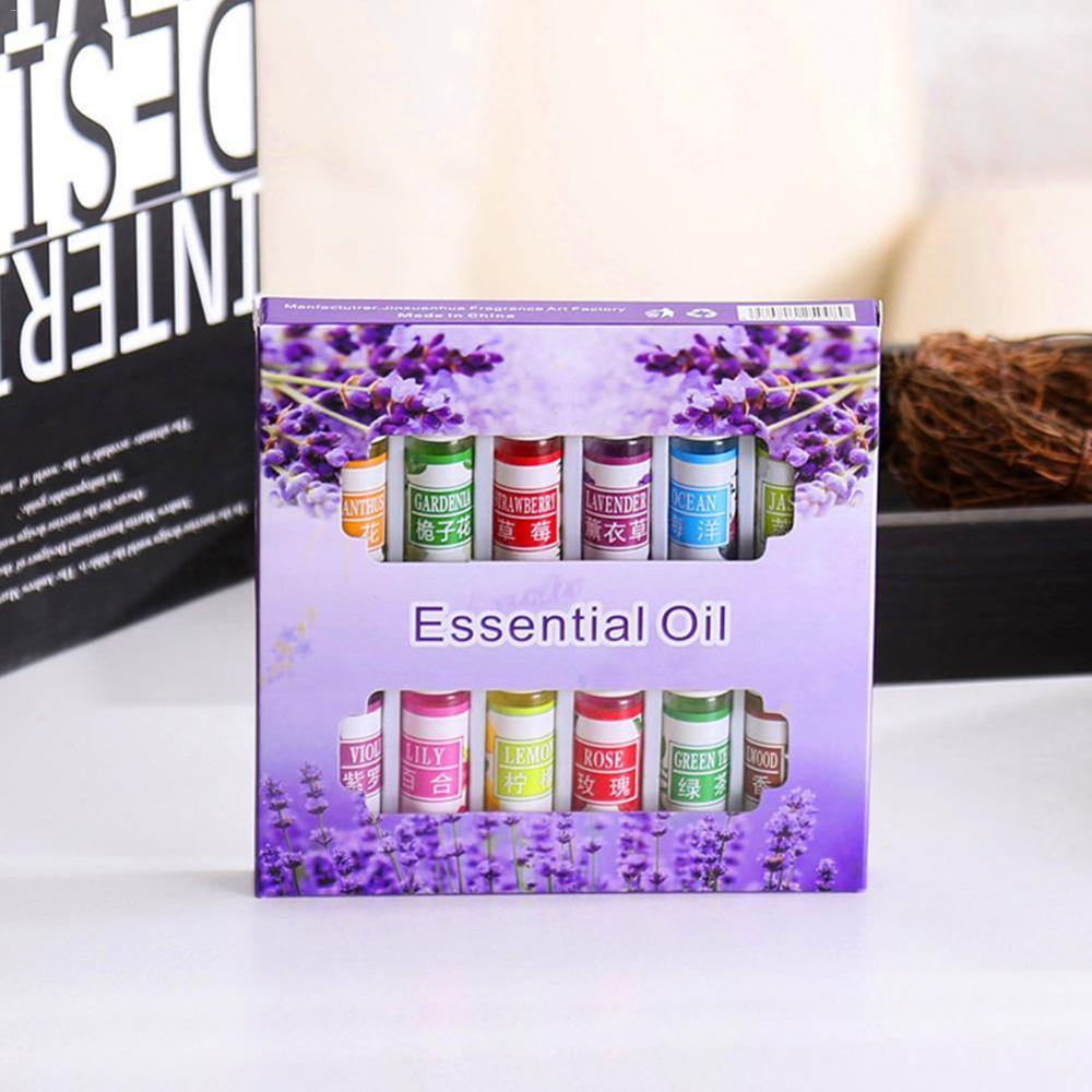 12 set Essential Oil For Diffuser Aromatherapy Oil Humidifier Six kinds of flavor 5ML Fragrance Aromatherapy Oil Natural Spa Oil