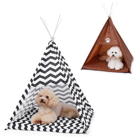 Pet Cat Tent House Outdoors Wind-proof Pet Bed For Cat Dog Portable Dog Tents Kennel for Small Dogs With Cushion Puppy Bed House