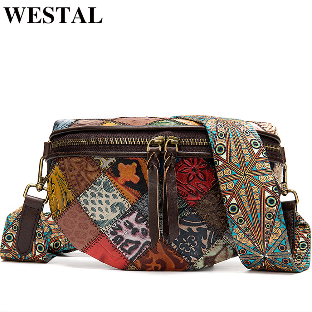 WESTAL women's shoulder bags genuine leather messenger bags small mini crossbody bag for women bags designer leather handbags