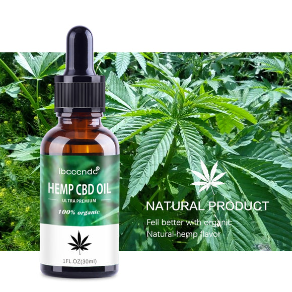 30ml Natural Bio-active Hemp Oil Drops Seed Essential Oil Massage Essence CBD Oil Help Sleep Herbal Body Relieve Stress