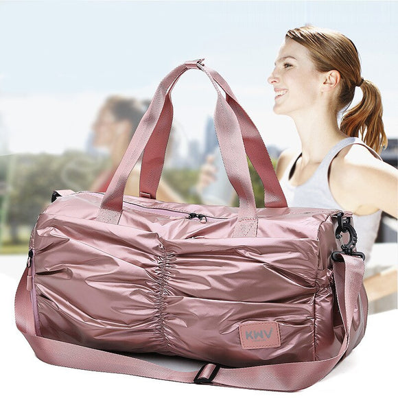 Travel bags women large capacity Oxford Unisex Dry and wet separation sports handbag waterproof duffel bag foldable weekend bag
