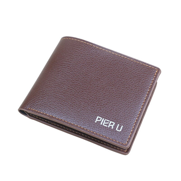 PU short wallet driving license bag multifunctional leather wallet vertical men's black wallet document card holder