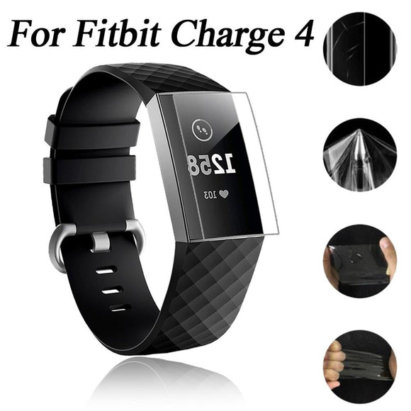 Explosion-proof TPU HD Full Cover Screen Protector Film For Fitbit Charge 4 Smart Watch Bracelets Band Strap Accessories Charge4