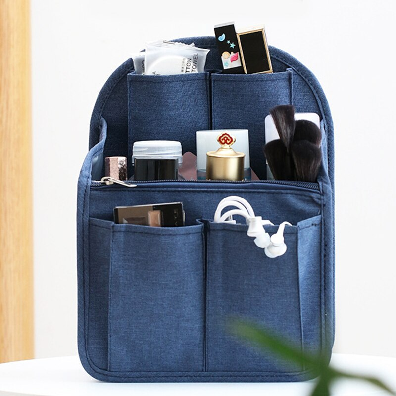 Make up Organizer nylon Insert Bag For Handbag Travel Inner Purse Portable Cosmetic Bags Fit Various Brand Bags