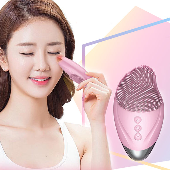 3 in 1Electric Silicone Facial Brush Cleansing Instrument Beauty Facial Massage Tool Equipment Skin Cleanser Brush