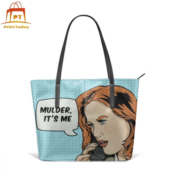Pop Art Handbag Pop Scully Top-handle Bags Print High quality Leather Tote Bag Trend Teenage School Large Woman Print Handbags