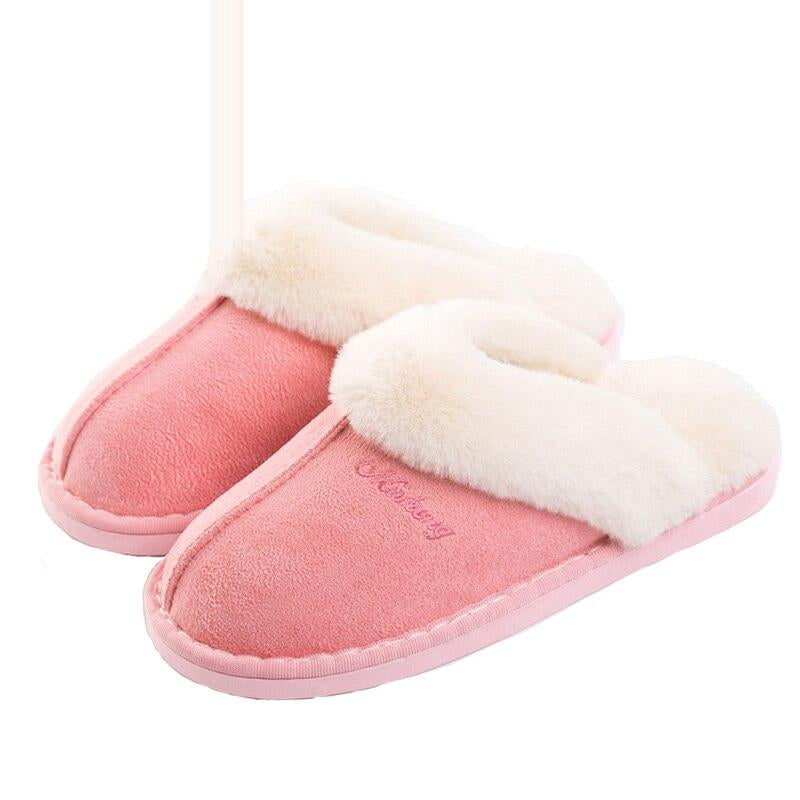 Women Winter Warm Fur Slippers Women Slippers Cotton Sheep Lovers Home Slippers Indoor Plush Size House Shoes Woman Dropshipping