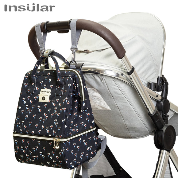 New Baby Diaper Bag Backpack Thermal Insulation Designer with Changing Pad Stroller Organizer For Mom Travel Maternity Nappy Bag
