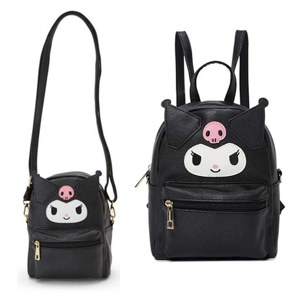 Cute My Melody Cinnamoroll Kuromi PU Leather Shoulder Messenger Bag Small Back Pack Crossbody Bags for Women Girls Sling Bag