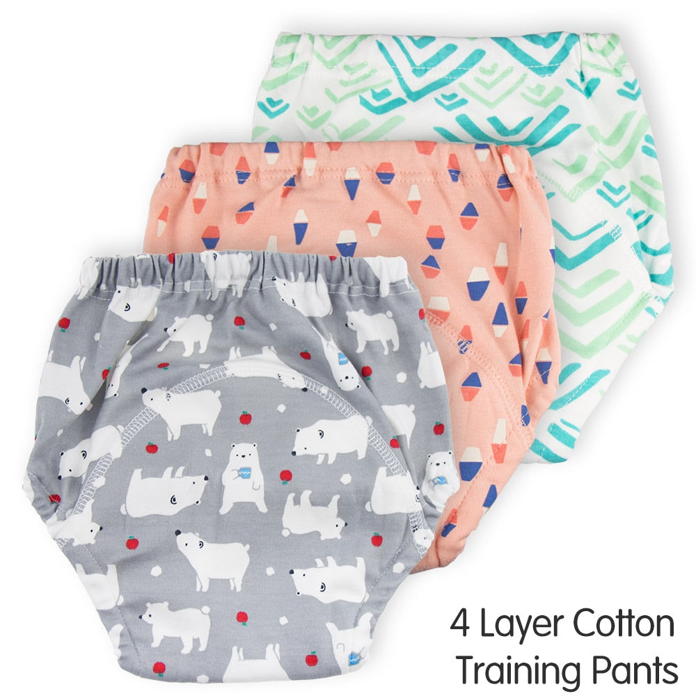 Lot 5PCS Reusable Baby Cloth Diaper Nappy Liners insert 3 Layers Cotton Hot a12