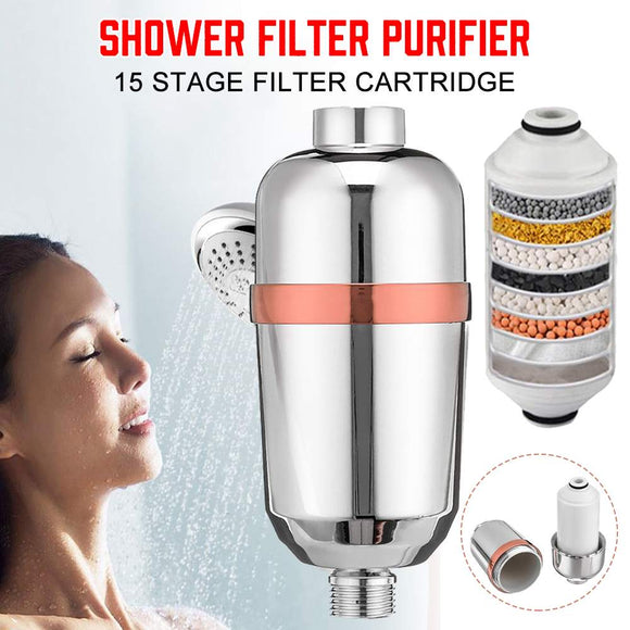 5/15 Level Water Filter Purifier Bathroom Shower Filter Bathing Water Treatment Health Softener Chlorine Removal Water Purifiers