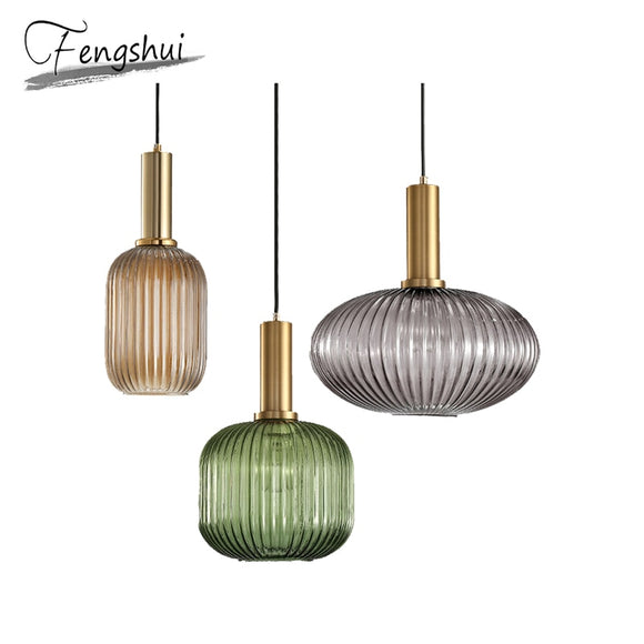 Modern Iron Glass Pendant Lights Lamp Nordic Home Decoration Pending Lighting Living Room Bedroom Loft Dining Room Hanging Lamp