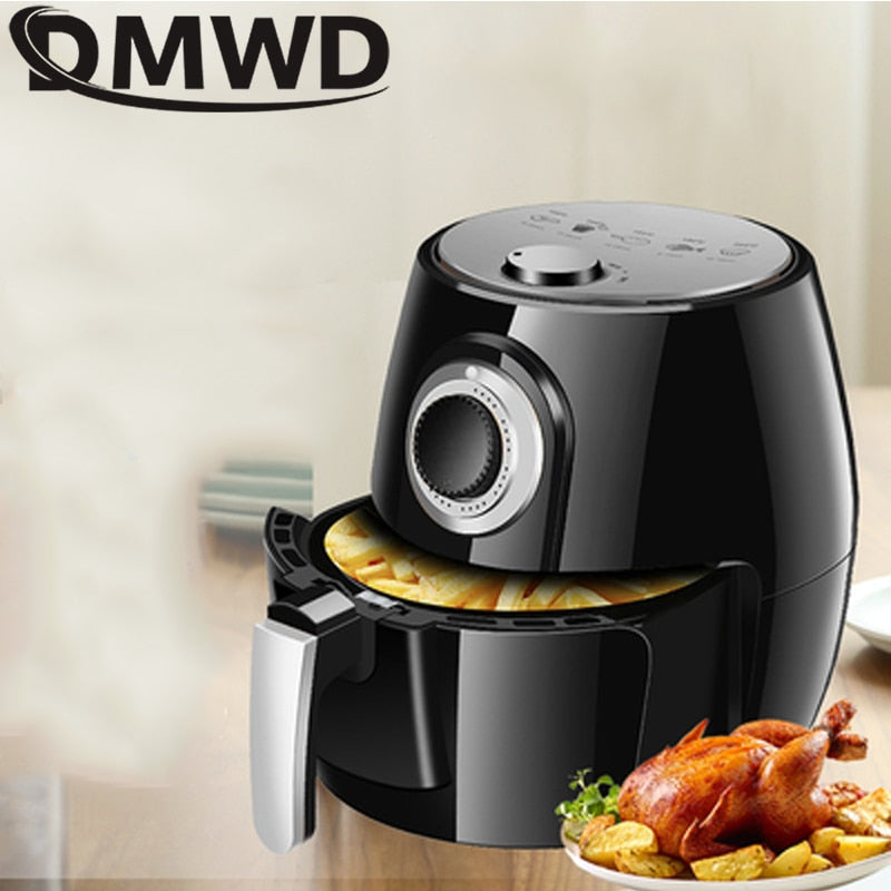 DMWD 1350W 5L Health Fryer Cooker Smart Touch LCD Airfryer Pizza Oil free Air Fryer Multi function Smart Fryer for French fries