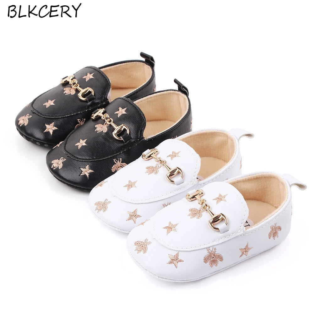 Soft Sole Leather Baby Toddler Child Prewalk Infant Kid ABC Brown Shoes 18-24M