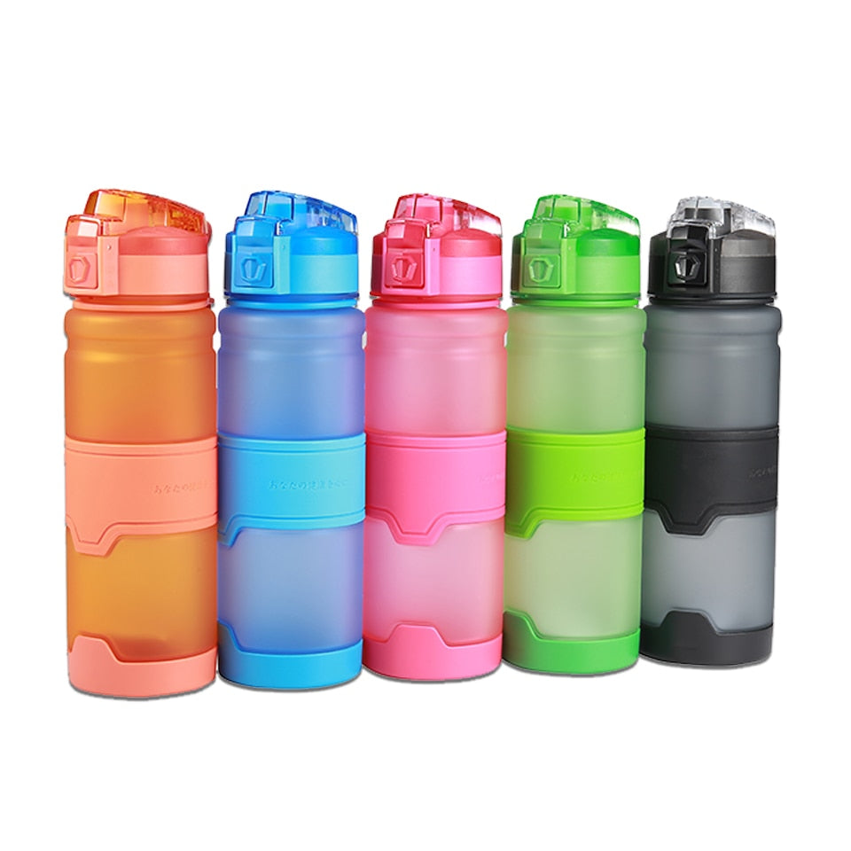 Portable Water Bottle BPA Free Drink Bottle Plastic Protein Shaker Bottle Leak-proof  Outdoor Sport Camping Bottle 380ml / 500ml