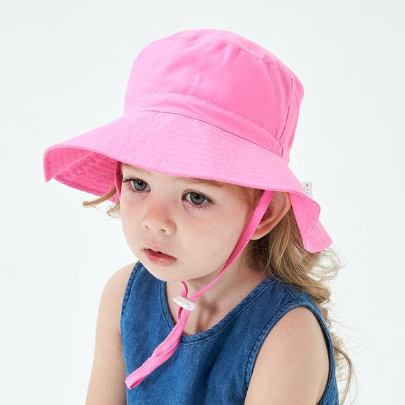 Summer Baby Sun Hat Adjustable Summer Baby Cap for Boys Travel Beach Baby Girl Hat Kids Infant Accessories Children Hats S/L