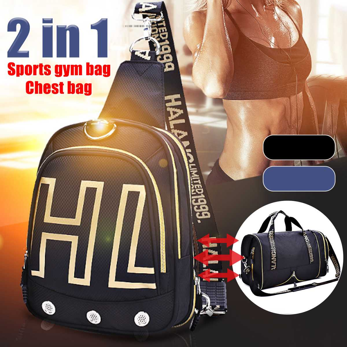 Men Women 2 IN 1 Sports Gym 2020 Duffle Bag Chest Bag Fitness Travel Dry Wet Gymtas Yoga Carry On Shoulder Handbag Luggage