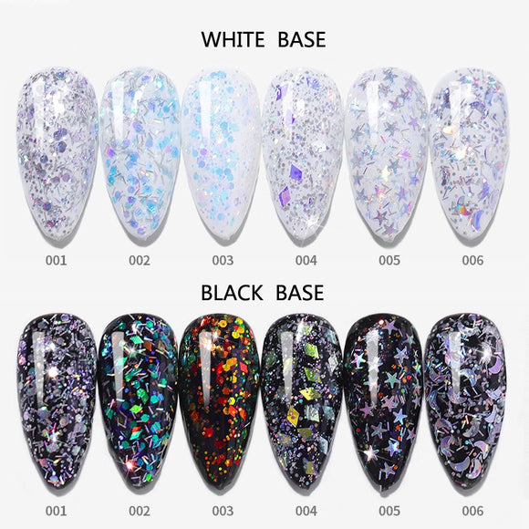 Explosion Glitter Uv Gel Nail Polish Mercury Sand Laser Soak Off Primer Nails Art Gelpolish The Moon And Stars Paillette Fairy