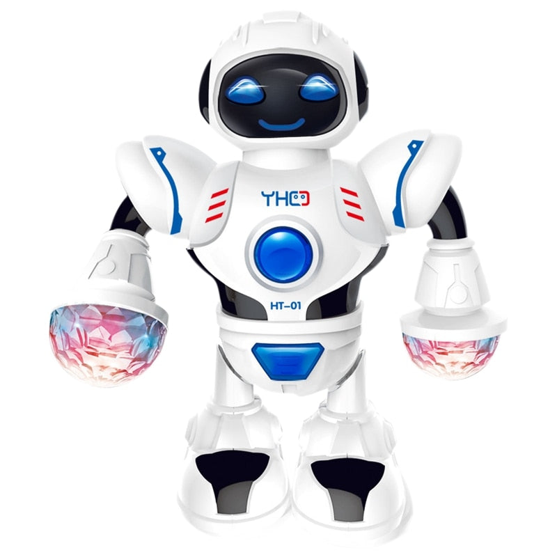 Mini Force Electronic Dancing Robot Bolt Figure LED Music Kids Birthday Gift Toy